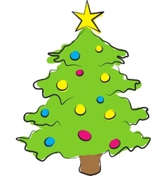 simple of colored christmas vector image vector image