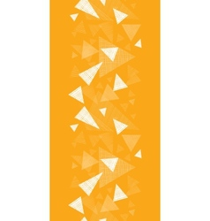Yellow textured triangles vertical border seamless vector image vector image