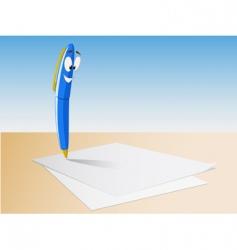 cartoon pen write vector image