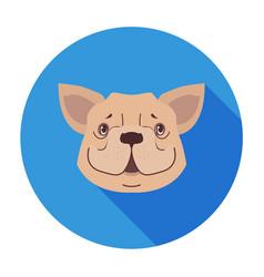 cute dog muzzle cartoon flat icon vector image