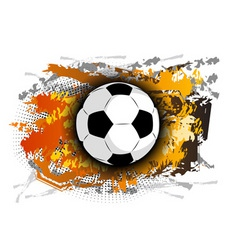 football theme on the background vector image