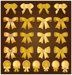 Golden Bows and banners vector image