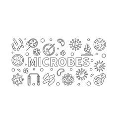 microbes horizontal line vector image