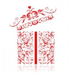 ogift box vector image