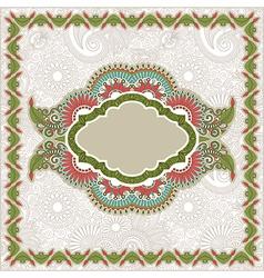 ornamental template vector image vector image