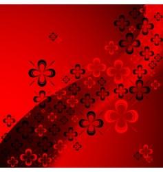shamrock abstract pattern vector image vector image