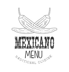 traditional restaurant mexican food menu promo vector image vector image