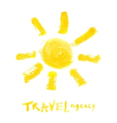 travel agency logo template vector image