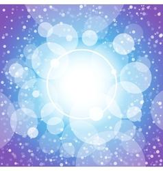 Blue shining circles and stars vector image