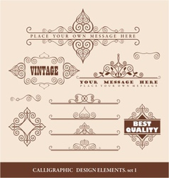 caligraphic design elements vector image vector image