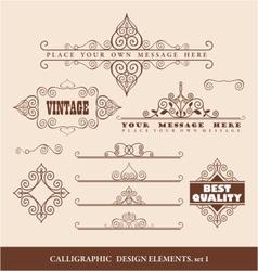 caligraphic design elements vector image