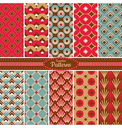 colorful seamless patterns vector image vector image