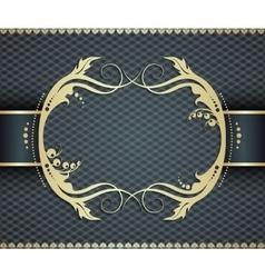 Elegant golden frame banner ornamental vector image