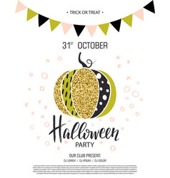 happy halloween invitation to party with cute vector image vector image