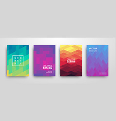 modern futuristic abstract geometric covers set vector image