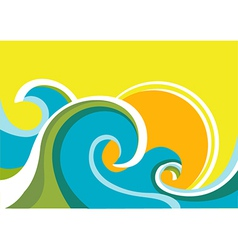 seascape poster vector image