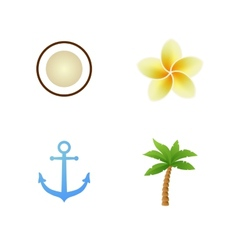 Set of Tropical Icons vector image vector image