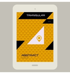 Abstract ui template with Tablet PC on triangular vector image vector image