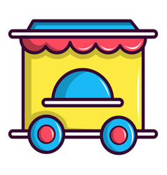 circus ticket booth icon cartoon style vector image