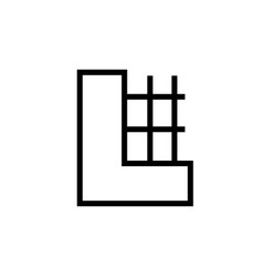 construction building icon vector image