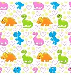 Dinosaur bright seamless pattern vector image vector image