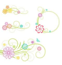 floral design elemen vector image