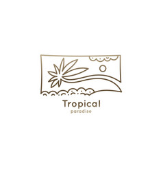 logo square tropic vector image