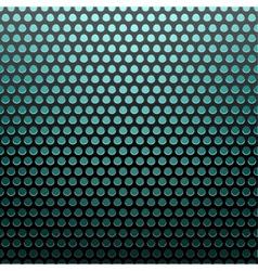 metal grid blue light background vector image vector image