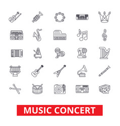 music concerts guitar piano dj party drums vector image vector image