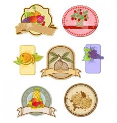 vintage food labels vector image