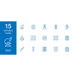 15 test icons vector image