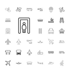 33 passenger icons vector
