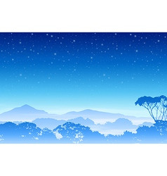 A Misty Forest Landscape vector