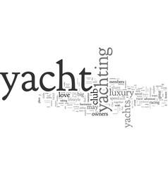 A society yacht lovers vector