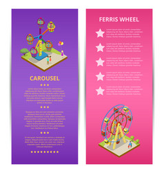 Amusement park advertising with space for text vector