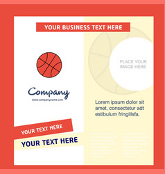 basket ball company brochure template busienss vector image