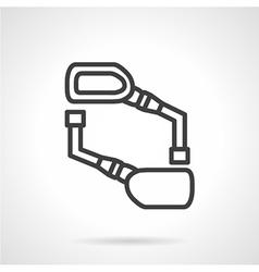 Bike mirrors black line icon vector