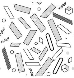 Black and white universal geometric seamless vector
