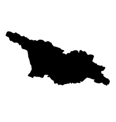 Black silhouette country borders map of georgia vector