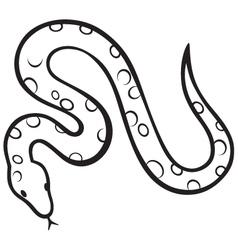 Black snake vector