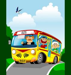 bus ride vector image