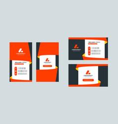 business card template portrait and landscape vector image