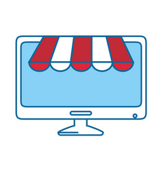 Buy online shopping vector