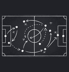chalk soccer strategy football team strategy and vector image