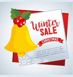 christmas big winter sale vector image