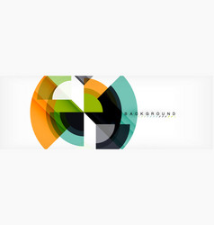 circular geometric abstract background vector image
