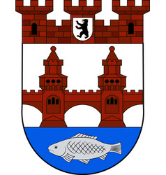 Coat of arms of friedrichshain in berlin germany vector