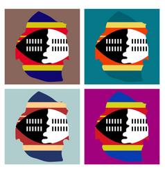 Colors of swaziland vector
