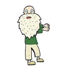 comic cartoon bearded old man vector image
