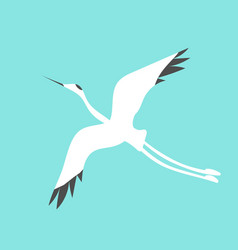 Crane bird logo vector